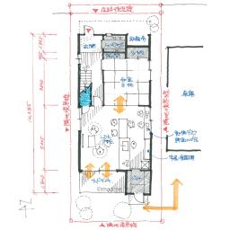 家事動線が短く使いやすい、縦長敷地の家