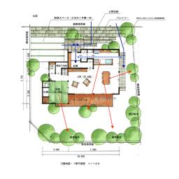 洗濯物は2階で完結、緑に囲まれ落ち着く家